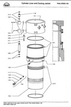 MAN S50MC Cylinder liner and cooling jacket
